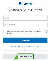 Payer par carte avec Paypal
